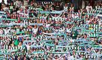 Stockholm 2014-07-20 Fotboll Superettan Hammarby IF - &Ouml;sters IF :  <br /> Hammarbys supportrar med halsdukar <br /> (Foto: Kenta J&ouml;nsson) Nyckelord:  Superettan Tele2 Arena Hammarby HIF Bajen &Ouml;ster &Ouml;IF supporter fans publik supporters