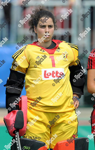 2013-07-14 / Hockey / seizoen 2013 / Dames Belgi&euml; / Nadine Khouzam<br /><br />Foto: Mpics.be
