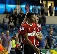 GOAL - Ipswich Town's Jordan Spence is congratulated for his goal during the Sky Bet Championship match between Millwall and Ipswich Town at The Den, London, England on 15 August 2017. Photo by Carlton Myrie.