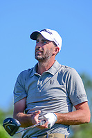 Geoff Ogilvy (AUS) watches his tee shot on 18 during round 1 of the Shell Houston Open, Golf Club of Houston, Houston, Texas, USA. 3/30/2017.<br /> Picture: Golffile | Ken Murray<br /> <br /> <br /> All photo usage must carry mandatory copyright credit (&copy; Golffile | Ken Murray)
