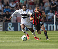 Bournemouth's Ryan Fraser (right) vies for possession with Fulham's Ryan Sessegnon (left)<br /> <br /> Photographer David Horton/CameraSport<br /> <br /> The Premier League - Bournemouth v Fulham - Saturday 20th April 2019 - Vitality Stadium - Bournemouth<br /> <br /> World Copyright © 2019 CameraSport. All rights reserved. 43 Linden Ave. Countesthorpe. Leicester. England. LE8 5PG - Tel: +44 (0) 116 277 4147 - admin@camerasport.com - www.camerasport.com