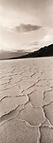 USA, California, Death Valley National Park, Badwater Salt Flats (B&W)