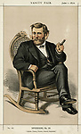 Ulysses Grant American Civil War General,  and later President, relaxing with a cigar      Date: circa 1872