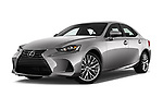 Stock pictures of low aggressive front three quarter view of a 2018 Lexus IS 300 4 Door Sedan