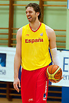 Training of the Spanish basketball team. In the picture Pau Gasol.