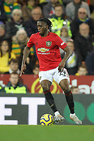 Aaron Wan-Bissaka of Manchester United during the Premier League match between Norwich City and Manchester United at Carrow Road on October 27th 2019 in Norwich, England. (Photo by Matt Bradshaw/phcimages.com)<br /> Foto PHC/Insidefoto <br /> ITALY ONLY