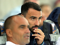 (L-R) Roberto Martinez and Leon Britton during the Alan Tate Testimonial Match, Swansea City Legends v Manchester United Legends at the Liberty Stadium, Swansea, Wales, UK