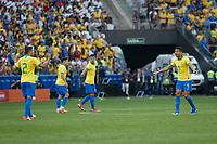 SÃO PAULO, SP 22.06.2019: PERU-BRASIL - Casemiro comemora o primeiro gol. Peru e Brasil durante partida válida pela terceira rodada do grupo A da Copa América Brasil 2019, que acontece na Arena Corinthians, zona leste da capital paulista na tarde deste sábado (22). (Foto: Ale Frata/Código19)