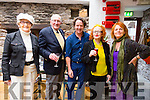 Pictured at a cocktail & supper evening followed by an illustrated talk by Diarmuid Gavin in the Cill Rialaig Arts Centre, Ballinskelligs on Saturday were l-r; Miriam Darcy, Paddy Darcy, Diarmuid Gavin, Noelle Campbell-Sharp & Sue Morley.