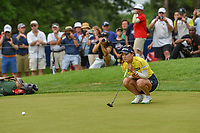 So Yeon Ryu (KOR) looks over her putt on the second playoff hole at 16 following round 4 of the 2018 KPMG Women's PGA Championship, Kemper Lakes Golf Club, at Kildeer, Illinois, USA. 7/1/2018.<br /> Picture: Golffile | Ken Murray<br /> <br /> All photo usage must carry mandatory copyright credit (&copy; Golffile | Ken Murray)