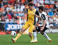 Valencia 0 - 1 Atco. Madrid, liga BBVA match at Mestalla stadium. 28 April 2014