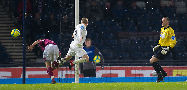 Steven Naismith barged off the ball for a penalty to Rangers