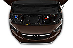 Car Stock 2019 Opel Combo-Life Innovation 5 Door Mini Mpv Engine  high angle detail view