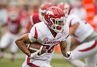 Hawgs Illustrated/BEN GOFF <br /> Jordon Curtis, Arkansas running back, carries the ball in the first quarter Saturday, April 6, 2019, during the Arkansas Red-White game at Reynolds Razorback Stadium.