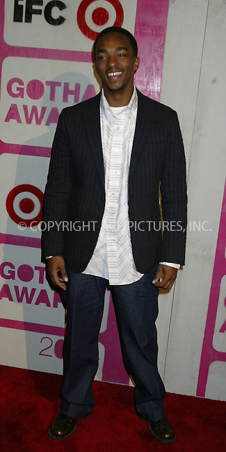 WWW.ACEPIXS.COM . . . . .  ....NEW YORK, DECEMBER 1, 2004....Anthony Mackie at the 14th Annual Gotham Awards present by IFP/New York at Chelsea Piers.....Please byline: Ian Wingfield - ACE PICTURES..... *** ***..Ace Pictures, Inc:  ..Alecsey Boldeskul (646) 267-6913 ..Philip Vaughan (646) 769-0430..e-mail: info@acepixs.com..web: http://www.acepixs.com