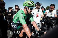 Green Jersey Peter Sagan (SVK/Bora Hansgrohe) wins the bunch sprint in Colmar.<br /> <br /> Stage 5: Saint-Dié-des-Vosges to Colmar (175km)<br /> 106th Tour de France 2019 (2.UWT)<br /> <br /> ©kramon