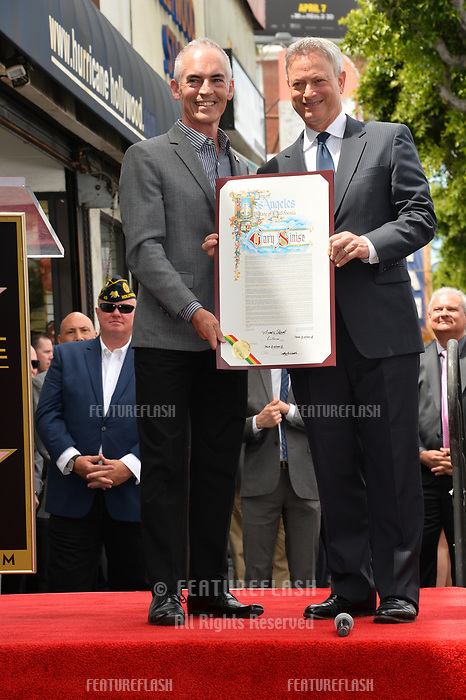 Mitch O'Farrell &amp; Gary Sinise at the Hollywood Walk of Fame star ceremony honoring actor Gary Sinise. Los Angeles, USA 17 April  2017<br /> Picture: Paul Smith/Featureflash/SilverHub 0208 004 5359 sales@silverhubmedia.com