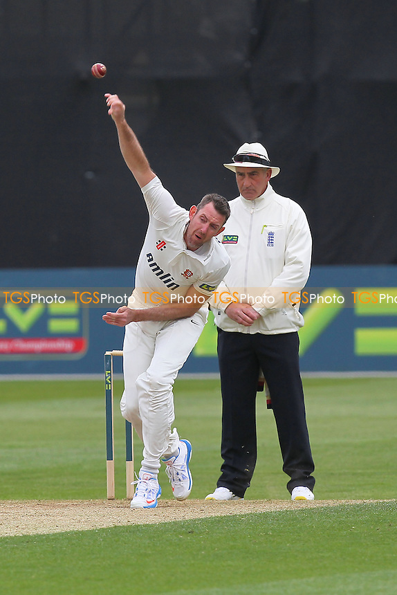 David Masters in bowling action for Essex - Essex CCC vs Hampshire CCC - LV County Championship Division Two Cricket at the Essex County Ground, Chelmsford - 30/04/13 - MANDATORY CREDIT: Gavin Ellis/TGSPHOTO - Self billing applies where appropriate - 0845 094 6026 - contact@tgsphoto.co.uk - NO UNPAID USE.