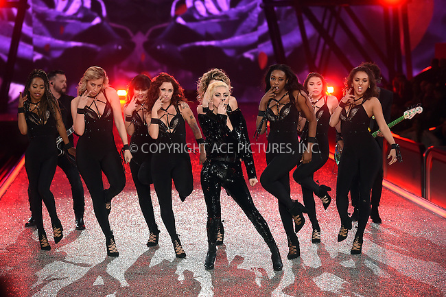 www.acepixs.com<br /> <br /> November 30 2016, New York City<br /> <br /> Lady Gaga performs on the runway during the Victoria's Secret Fashion Show on November 30, 2016 in Paris, France.<br /> <br /> By Line: Alain Benainous/ACE Pictures<br /> <br /> <br /> ACE Pictures Inc<br /> Tel: 6467670430<br /> Email: info@acepixs.com<br /> www.acepixs.com