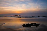 Winter sunset on Bandon Beach, Oregon