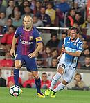 Andres Iniesta in action ,9th September 2017, Camp Nou, Barcelona, Spain; La Liga football, Barcelona versus Espanyol;