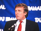 Donald J. Trump makes remarks and answers questions on his new Atlantic City Hotel, the Trump Taj Mahal, at a press conference in Washington, DC on March 1, 1989.<br /> Credit: Arnie Sachs / CNP