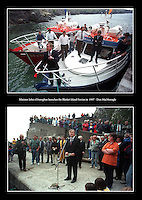 John O'Donoghue launches the Blasket Ferries in 1997.<br /> Picture: Don MacMonagle - macmonagle archive<br /> e: info@macmonagle.com