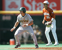 Baylor 3B Shaver Hansen leads off against Texas on May 3rd, 2008. Photo by Andrew Woolley / Four Seam Images