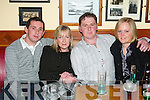NIGHT OUT: Enjoying a night out at the Gables Bar and Restaurant, Athea on Friday night were David Moloney, Breda Dore, Brendan Moloney and Maria Moloney, all from Moyvane.   Copyright Kerry's Eye 2008