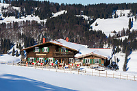 Deutschland, Bayern, Schwaben, Oberallgaeu, Immenstadt, Ortsteil Ratholz: Alpsee Bergwelt - Berghuette Baerenfalle | Germany, Bavaria, Swabia, Upper Allgaeu, Immenstadt, district Ratholz: Alpsee Bergwelt - mountain hut 'Baerenfalle' (bear trap)