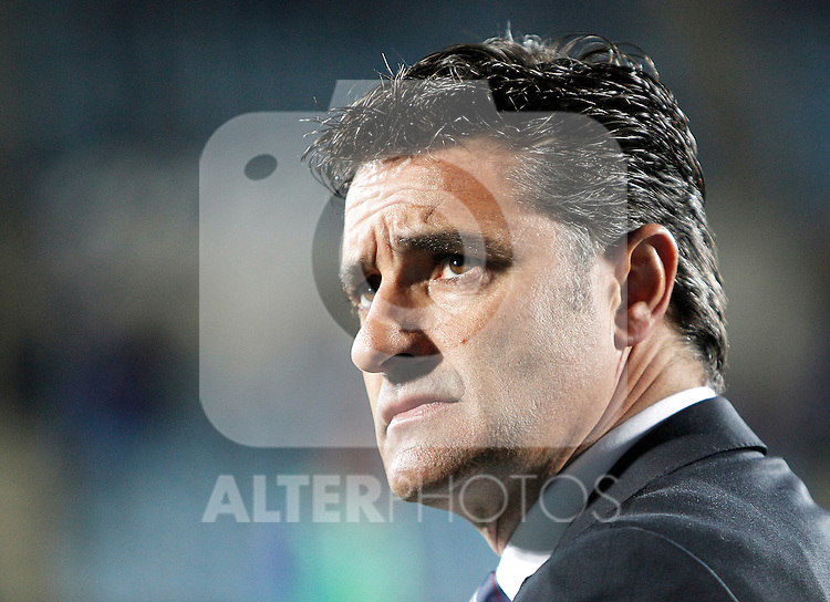 Getafe's coach Michel during La Liga Match. March 02, 2011. (ALTERPHOTOS/Alvaro Hernandez)