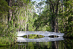 Magnolia Plantation,  Long white bridge over Cypress Lake, Charleston, SC, USA