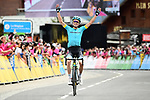 Pello Bilbao Lopez De Armentia (ESP) Astana Pro Team wins solo Stage 6 of the 2018 Criterium du Dauphine 2018 running 110km from Frontenex to La Rosiere, France. 9th June 2018.<br /> Picture: ASO/Alex Broadway | Cyclefile<br /> <br /> <br /> All photos usage must carry mandatory copyright credit (&copy; Cyclefile | ASO/Alex Broadway)