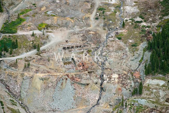 Mine ruins east of Telluride, Colorado.  Road K68.  July 2013