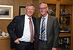 St Johnstone v Aberdeen.....07.12.13    SPFL<br /> Sir Alex Ferguson at McDiarmid Park with Director Stan Harris. He was invited by St Johnstone FC to mark the 50th anniversary of a famous game in the club's history when a young 'Fergie' scored hat-trick against Rangers at Ibrox on the 21st December 1963. Saints winning the game 3-2<br /> Picture by Graeme Hart.<br /> Copyright Perthshire Picture Agency<br /> Tel: 01738 623350  Mobile: 07990 594431
