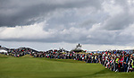 Spectators on the 1st hole. McKayson NZ Women's Golf Open, Round Two, Windross Farm Golf Course, Manukau, Auckland, New Zealand, Friday 29 September 2017.  Photo: Simon Watts/www.bwmedia.co.nz