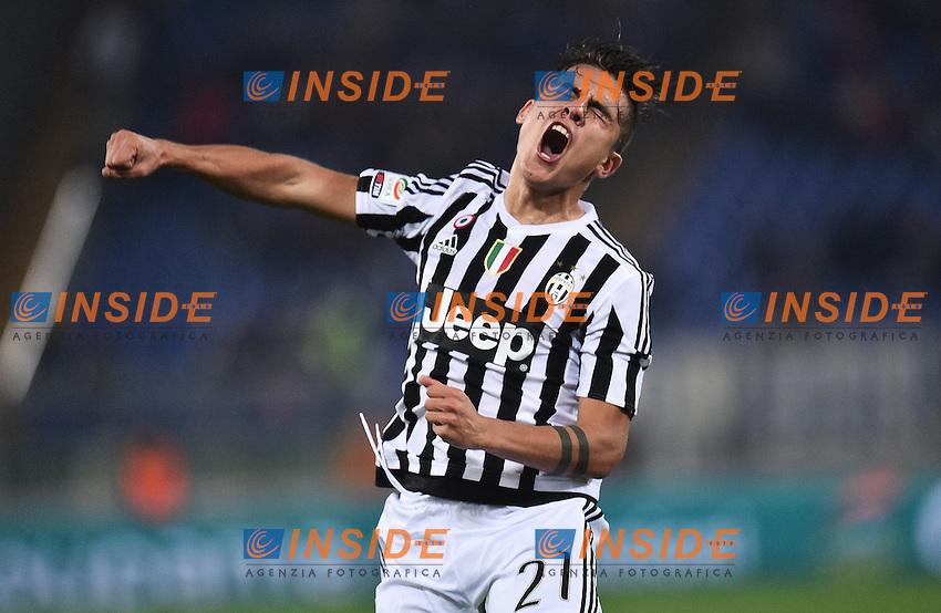 Esultanza Gol Juventus Paulo Dybala Goal celebration <br /> Roma 04-12-2015 Stadio Olimpico Football Calcio 2015/2016 Serie A Lazio - Juventus Foto Andrea Staccioli / Insidefoto