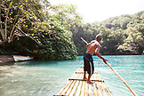 JAMAICA, Port Antonio. Local boatman Danny at the Blue Lagoon.