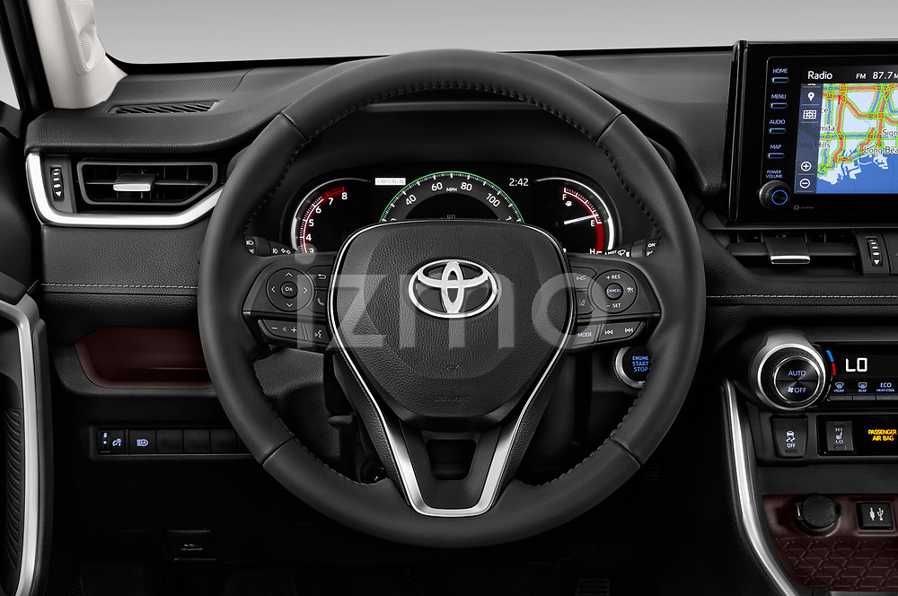 Car pictures of steering wheel view of a 2019 Toyota RAV4 Limited 5 Door SUV