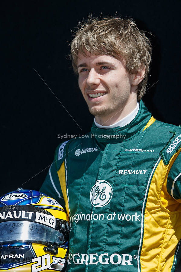 Charles Pic (FRA) from the Caterham F1 Team poses for his portrait on day one of the 2013 Formula One Rolex Australian Grand Prix at the Albert Park Circuit in Melbourne, Australia.