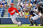 5 March 2011: Washington Nationals' infielder Jerry Hairston Jr. in action during a Spring Training game against the New York Yankees at George M. Steinbrenner Field in Tampa, Florida. The Nationals defeated the Yankees 10-8 in Grapefruit League action. Mandatory Credit: Ed Wolfstein Photo