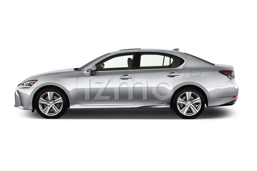 Car Driver side profile view of a 2016 Lexus GS 200t 4 Door Sedan Side View