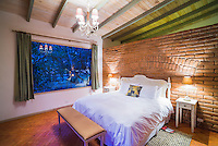 Bedroom at Hacienda Piman Garden Hotel, accommodation near Ibarra, Ecuador, South America