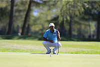 S.S.P. Chawrasia (IND) on the 5th green during Saturday's Round 3 of the 2018 Omega European Masters, held at the Golf Club Crans-Sur-Sierre, Crans Montana, Switzerland. 8th September 2018.<br /> Picture: Eoin Clarke | Golffile<br /> <br /> <br /> All photos usage must carry mandatory copyright credit (&copy; Golffile | Eoin Clarke)