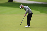 Soren Kjeldsen (DEN) putts on the 1st green during Saturday's rain delayed Round 2 of the Andalucia Valderrama Masters 2018 hosted by the Sergio Foundation, held at Real Golf de Valderrama, Sotogrande, San Roque, Spain. 20th October 2018.<br /> Picture: Eoin Clarke | Golffile<br /> <br /> <br /> All photos usage must carry mandatory copyright credit (&copy; Golffile | Eoin Clarke)