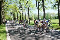 Fabian Cancellara (SUI/Trek-Segafredo) & Boy Van Poppel (NLD/Trek-Segafredo) checking their musettes after the feed zone <br /> <br /> stage 3: Nijmegen-Arnhem (NLD) 190km<br /> 99th Giro d'Italia 2016