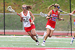 Redondo Beach, CA 05/14/11 - Laura Shodall (Redondo Union #16) and Caitlin Derry (Los Alamitos #12)in action during the 2011 US Lacrosse / CIF Southern Section Division 1 Girls Varsity Lacrosse Championship, Los Alamitos defeated Redondo Union 17-5.