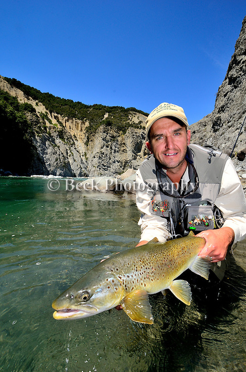 Fly fishing in New Zealand