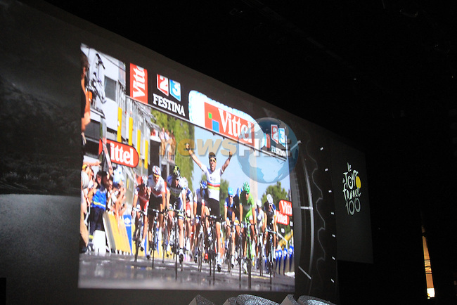 The launch of the route for the 100th edition of the 2013 Tour de France in the Palais de Congress, Paris, France 24th October 2012 (Photo Eoin Clarke/www.newsfile.ie)