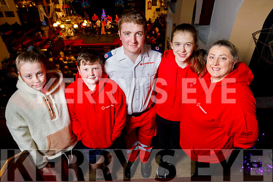 Shauna and Cian Harris, Thomas White, Emma Lynch and Linda Murphy attending the Tralee branch of the Red Cross Christmas Concert at St Johns in Ashe Street.